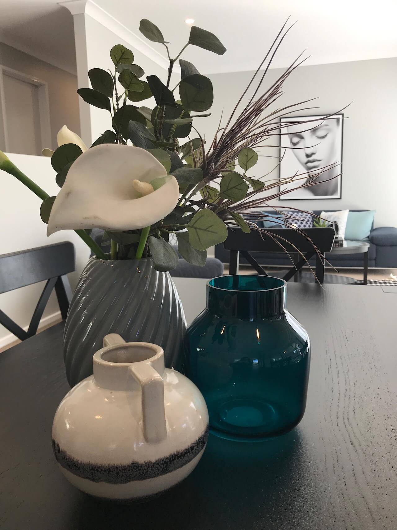 Lounge and Vases